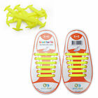 KIDS YELLOW Coolnice Pull Lock Anchor Type Silicon Fashion No Tie Shoe Laces