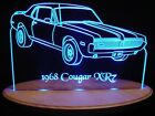 "1968 Cougar XR7 Edge Lit 11-13"" Lighted Sign LED Plaque 68 VVD5 USA Original"
