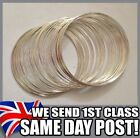 60 loops coils of silver plated memory wire for bracelets and bangles all sizes