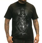 SULLEN GRIM REAPER SKULL BLACK TATTOO MENS T SHIRT M-2XL