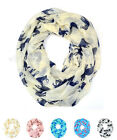 Elephant Wild Animal Print Block Circle Loop Wrap Infinity Scarf Casual Fashion