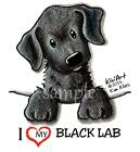 Black Lab Dog Ladies Tshirt or Nightshirt 7432 kiniart akc puppy pet art