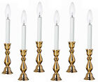 """WINDSOR"" BRASS ELECTRIC WINDOW CANDLESTICK LAMPS - SET O..."