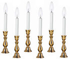 """""""WINDSOR"""" BRASS ELECTRIC WINDOW CANDLESTICK LAMPS - SET OF SIX - 10""""H or 12""""H"""