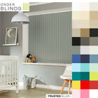 """Complete 89mm (3.5"""") Made To Measure Blackout Vertical Blinds In 29 Colours"""