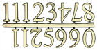NEW Basic Gold Clock Numerals - Numbers - DIY- Choose 7 Sizes! Stick On 1-12