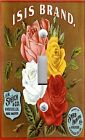 Light Switch Plate & Outlet Covers VINTAGE FRUIT CRATE ~ ISIS RED YELLOW ROSES