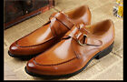 New Men's Dress Shoes Formal Real Leather Black Brown W1812