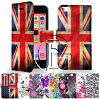 APPLE IPHONE 5C MAGNETIC PU FLIP LEATHER WALLET CASE COVER & SCREEN PROTECTOR