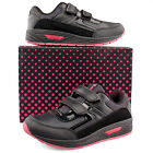 Girl New Touch Fastening  School Casual Sport Black Pink Trainers Shoes 8 - 2