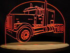"""2000 Semi Truck C Edge Lit Awesome 21"""" Lighted Sign LED Plaque 00 VVD15 USA Made"""