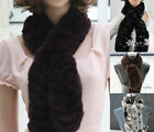 Fashion new hot women 's real good quality warm rex rabbit fur trapezoidal scarf