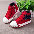 NEW Fashion Kid's GIRLS Bow Sports Casual Canvas Sneakers Shoes Boots