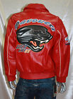 Men's Red Wild Cat 100% Genuine Leather Jacket By Davoucci
