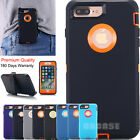 iPhone 7 6s 6 Plus Shockproof Defender Case Heavy Duty Belt Clip Holster f Apple