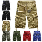 Men's Cool Casual Army Cargo Combat Camo Camouflage Overall Shorts Sports Pants