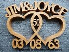 Wooden Entwined hearts/Custom made wedding/anniversary gift/ personalised
