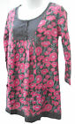 New White stuff tunic~3/4 sleeves~Pink poppy floral print~8-10-12-14