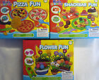 Kids Dough Play Dough Toy Set (Flower Fun, Pizza or Snack Bar) 3 different Dough