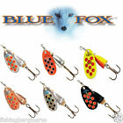Size 1 Original Blue Fox Fishing Spinner Lure Vibrax Hot Pepper Choose colours