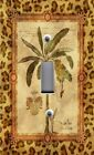 Light Switch Plate Outlet Covers BEACH ANIMAL TROPICAL PALM TREE LEOPARD BORDER