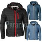 Crosshatch Quilt Padded Hooded Jacket  Mens Size