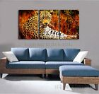 Tiger Drawing Painting Wild Animal Wall Art Print for Living Room Decor - Framed