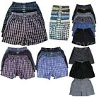 3, 6, 12 Men Knocker Boxer Trunk Plaid Checker Shorts Underwear Lot Cotton S-3XL
