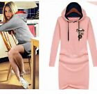 New Women's Long Hooded Pullover Long Sleeve Sweatshirt Jacket Coat Sweater Tops