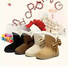 Good Quality Women Bowknot Winter Warm Ankle Snow Slip on Boots Shoes 4 Color S2