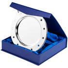 Presentation Salver Silver Plated Star Holes in 2 Sizes Free Engraving, Boxed