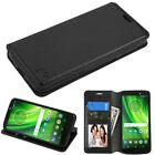 For Apple iPhone 6 6S Plus BLACK Credit Card Leather Flip Wallet Case Cover Hook