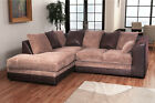 Dylan Corner Sofa In Brown And Coffee Jumbo Cord Left or Right Hand Corner Group