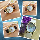 Retro World Map Watch Fashion Leather Alloy Women Casual Analog A Great Gift