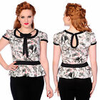 BANNED BAT BUTTERFLY INSECT BLOUSE TOP GOTH STEAMPUNK ROCK 6-14 NEW TAGS
