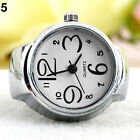 Women Eulogize Great Steel Round Dial Stylish Elastic Quartz Finger Ring Watch