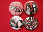 The White Strpes Band 4 Pins SELECT SIZE  New Pinback Buttons Badges