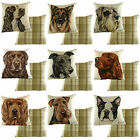 "'WAGGY DOGZ' Dog Cushion Covers, approx. 17"" x 17"" Made in UK 15 Breeds"
