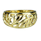 R014 Genuine 9ct SOLID Yellow GOLD Filigree Domed Ring size N