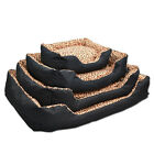 High Quality Thick Padding Dog Bed Leopard Print with Free Toy