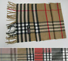 Long Soft Scarf 100% Cashmere Feel Shawl Plaid Warm Unisex Colors, Free Shipping