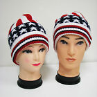 New American Flag Hat Winter Knit US Patriotic Beanie Fashion Skull Ski Cap Warm