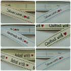 """16mm Printed """"With Love"""" Grosgrain Ribbon - Various designs (1 qty = 2 Metres)"""