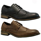 NEW MENS FAUX LEATHER ITALIAN CASUAL FORMAL BROGUE OXFORD OFFICE WEDDING SHOES