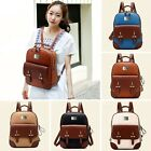 New Students Personality Backpacks Ladies Shoulder Bags Faux Leather Retro Bag