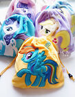 New My Little Pony Plush Pouch Drawstring Tie String Bag Mul-function Camera Bag