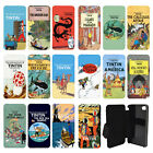 TinTin cartoon Flip Wallet cover case for Apple iPhone No.11