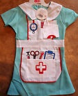 Children's 2 Piece Nurse Fancy Dress Outfit Uniform (Dress & Hat) 2 Sizes.