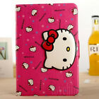 """Rose Hellokitty Cat Leather Wallet Case Cover For iPad Mini & iPad Air &Pro 9.7"""""""