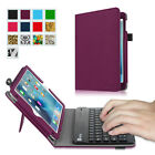 Removable Bluetooth Keyboard Case Premium PU Leather Stand Folio Cover for iPad